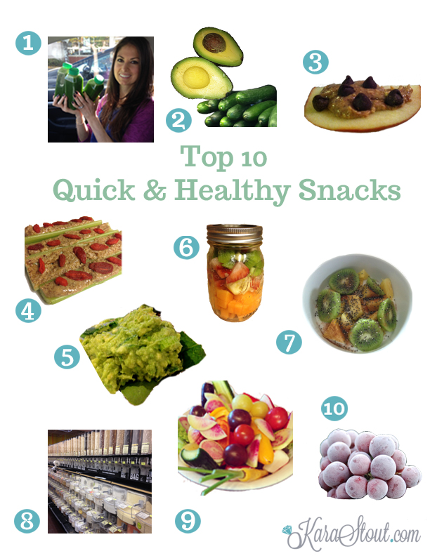 Top 10 quick & healthy snacks