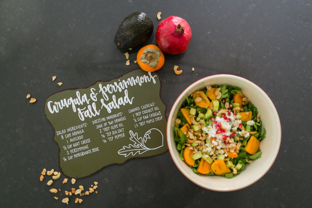 http://www.stylemepretty.com/living/2014/10/28/arugula-persimmons-fall-salad-with-candied-cashews/