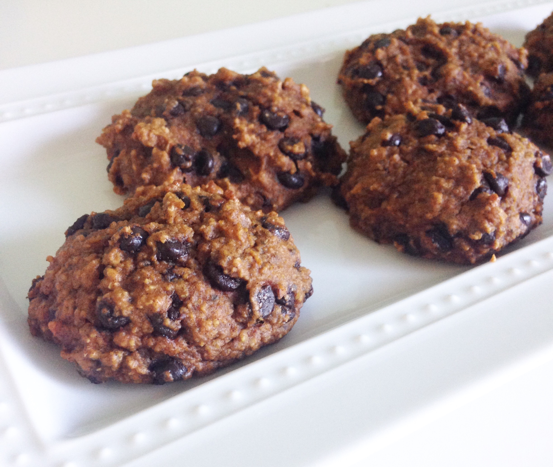 Healthy Pumpkin Chocolate Chip Cookies