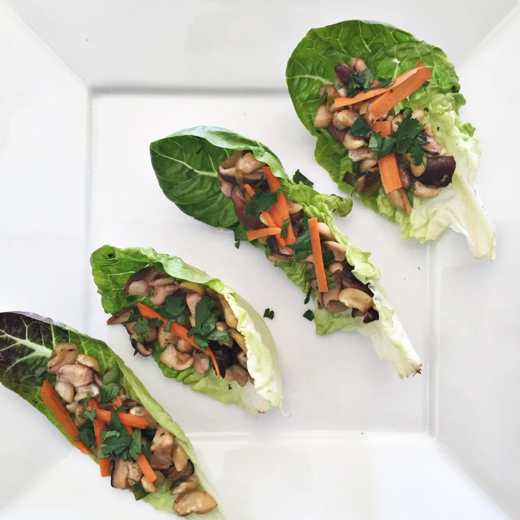 Shiitake Mushroom Lettuce Wraps