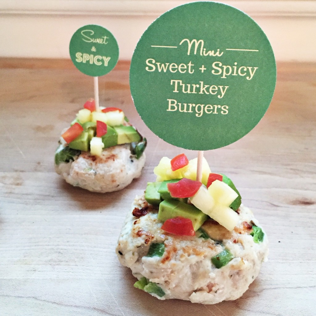 Mini Sweet + Spicy Turkey Burgers