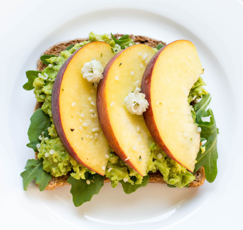 Peach Avocado Toast