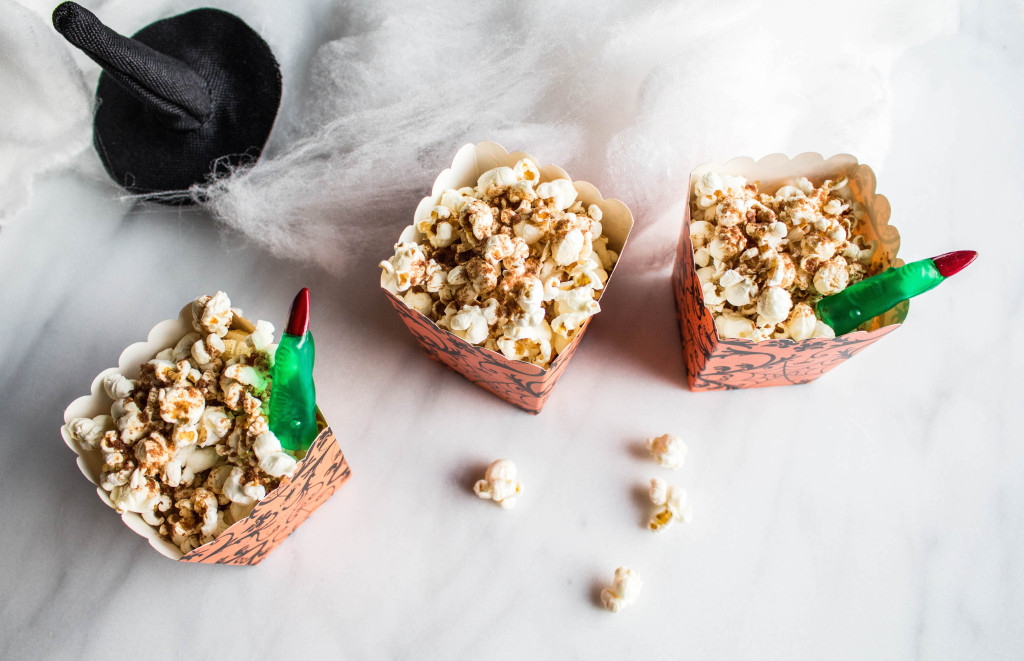 Pumpkin Spiced Popcorn Halloween photo