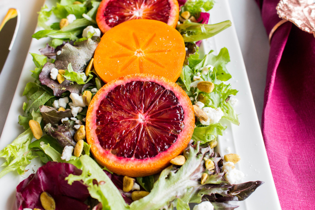 Blood Orange Salad Up close shot