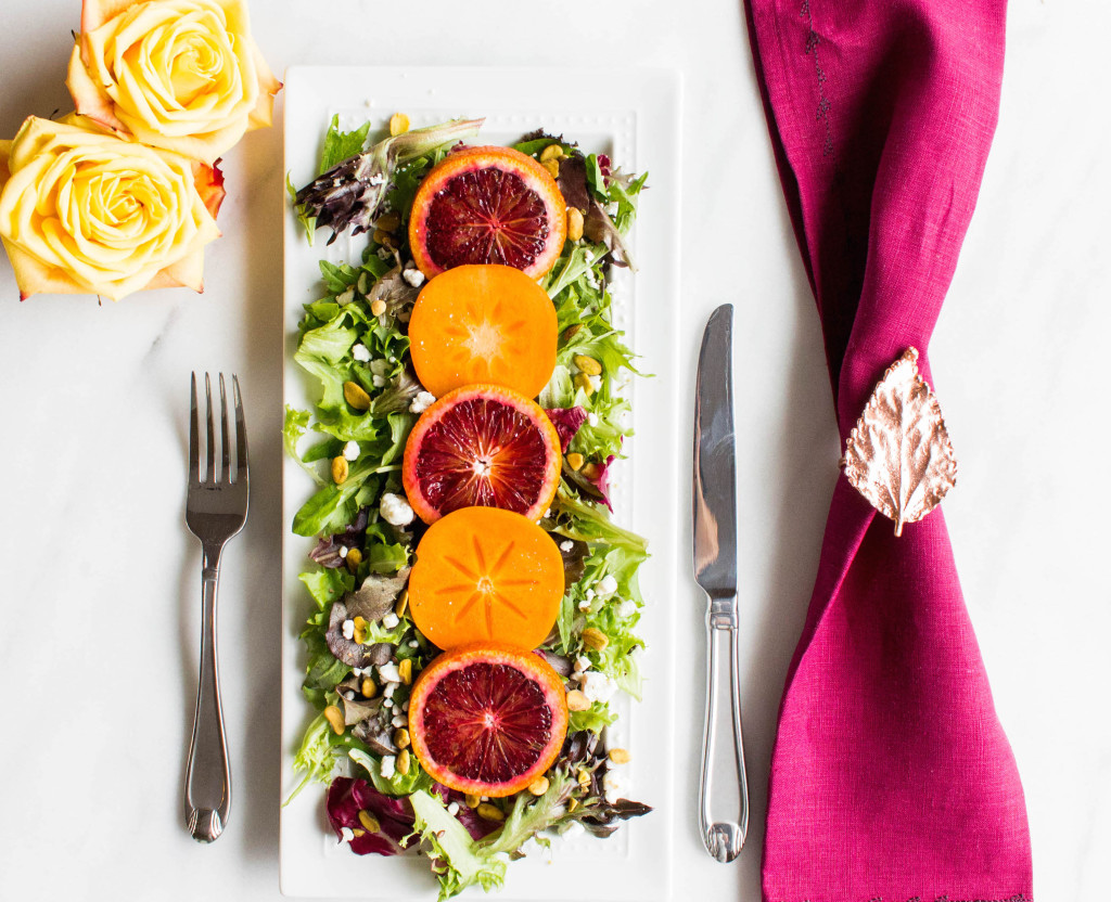 Thanksgiving Blood Orange and Persimmon Salad