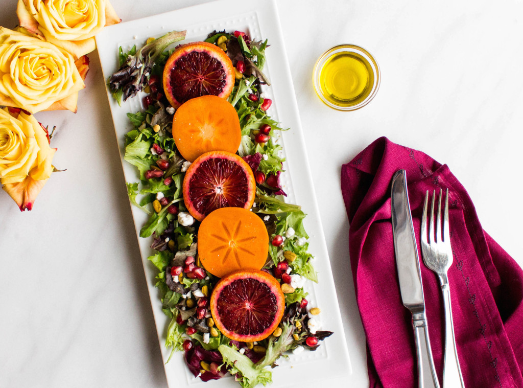 Blood Orange & Persimmon Winter Salad