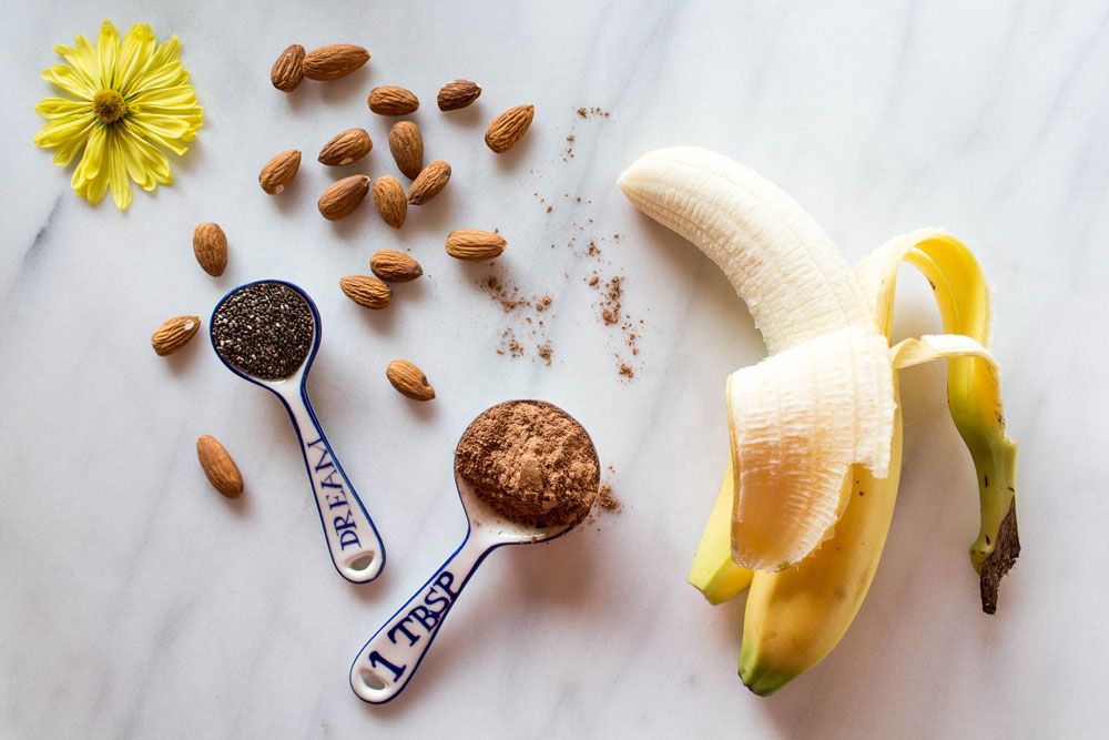 Chunky Monkey Smoothie Ingredients
