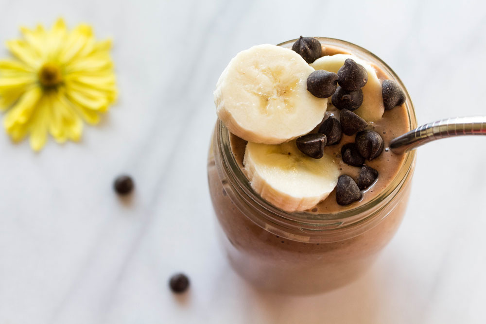 Bananas and Chocolate Chip Smoothie Photo