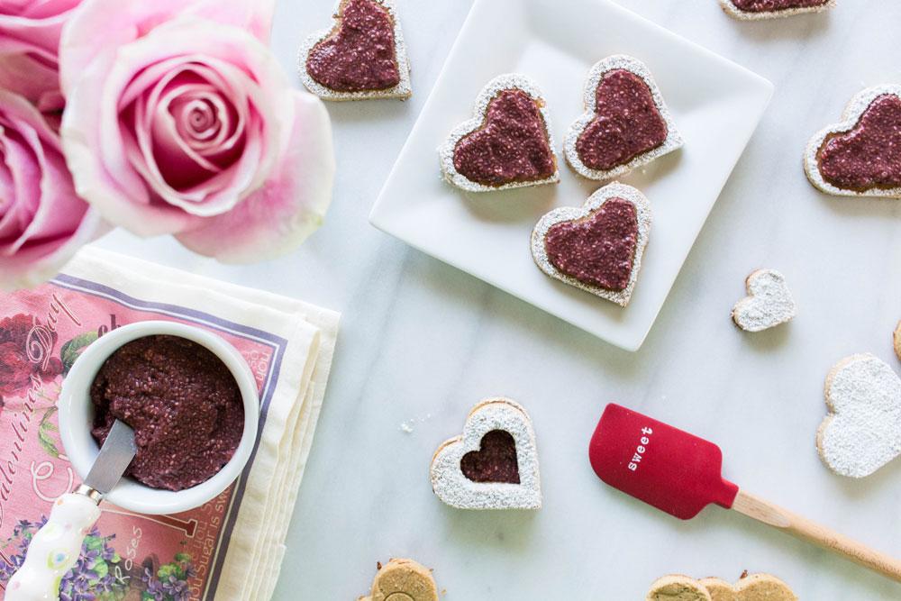 Gluten-Free Biscuit + Jam Valentine Cookies