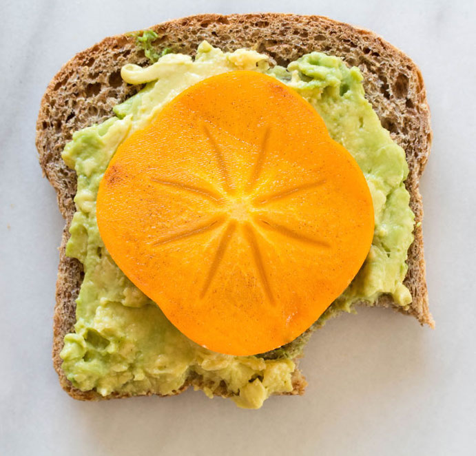Persimmon Avocado Toast