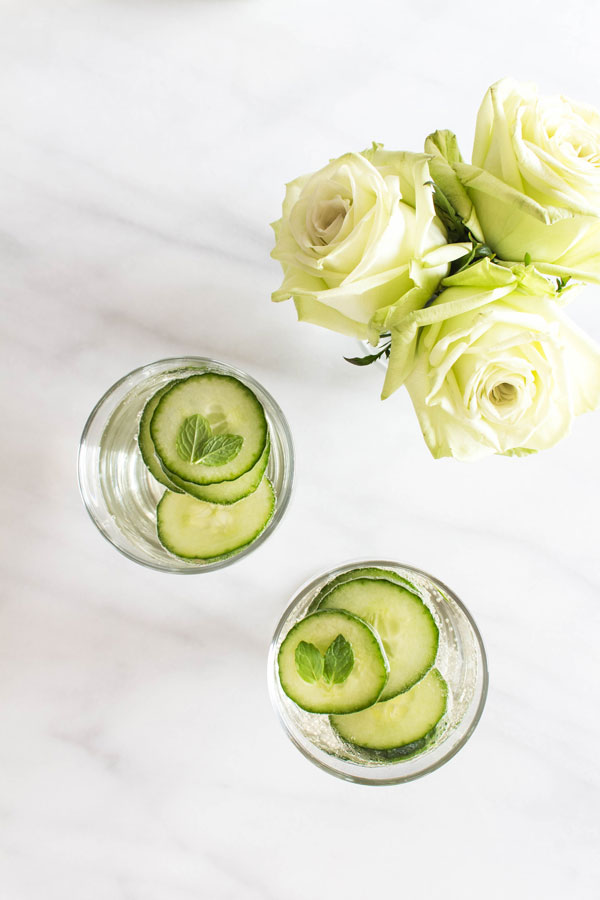 Cucumber mint sangria for two photo