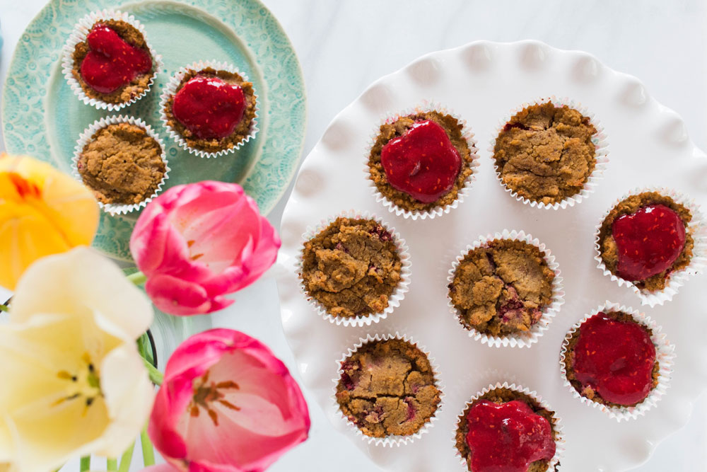 Raspberry Lemon Superfood Muffins