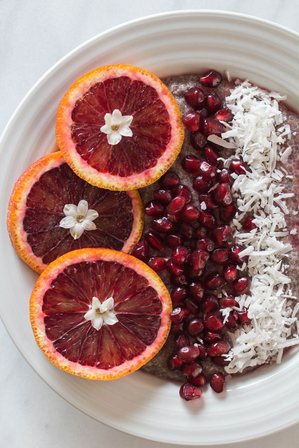 Blood Orange Chia Seed Pudding Detail photo