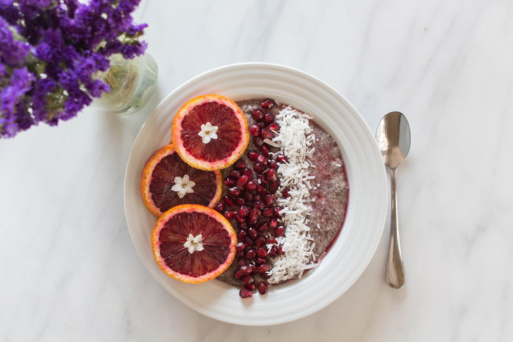 Blood Orange Chia Seed Pudding