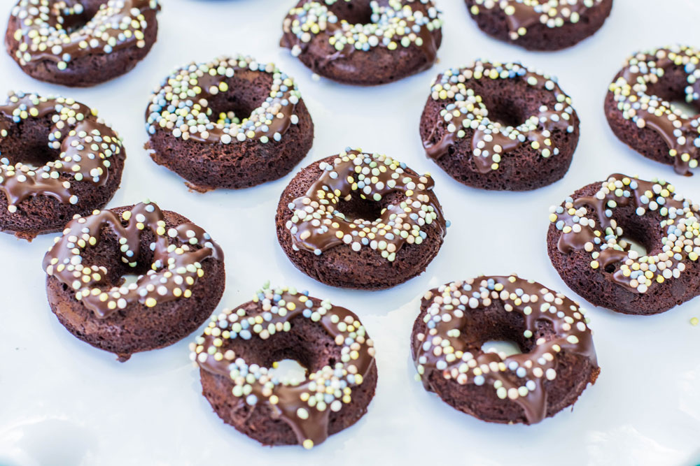 Mini Donuts with sprinkles photo