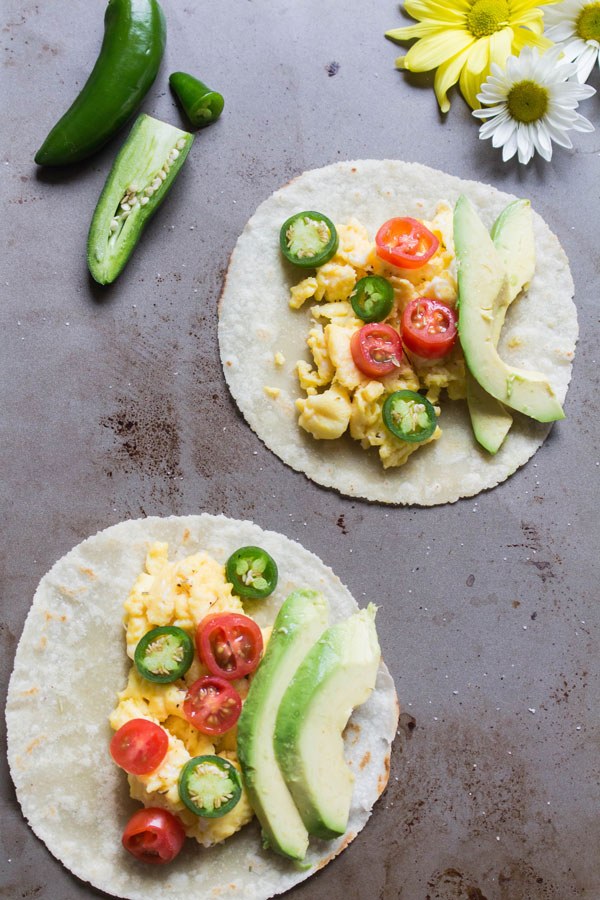 Spicy Breakfast Tacos