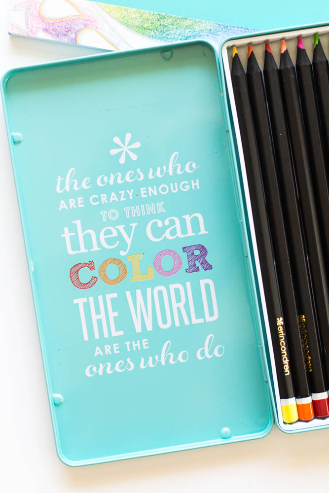 Erin Condren Design coloring pencils and case