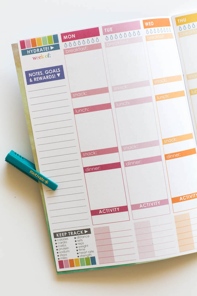 Erin Condren Design wellness journal open