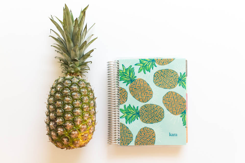 Erin Condren Design Pineapple Life planner with Pineapple