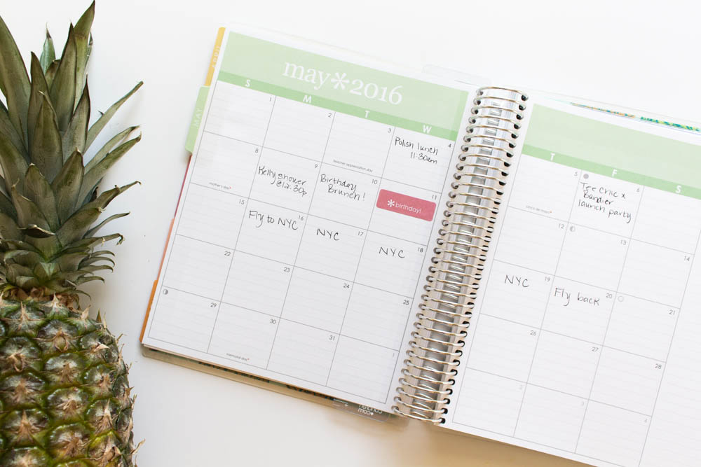 Erin Condren Design Pineapple Life planner open