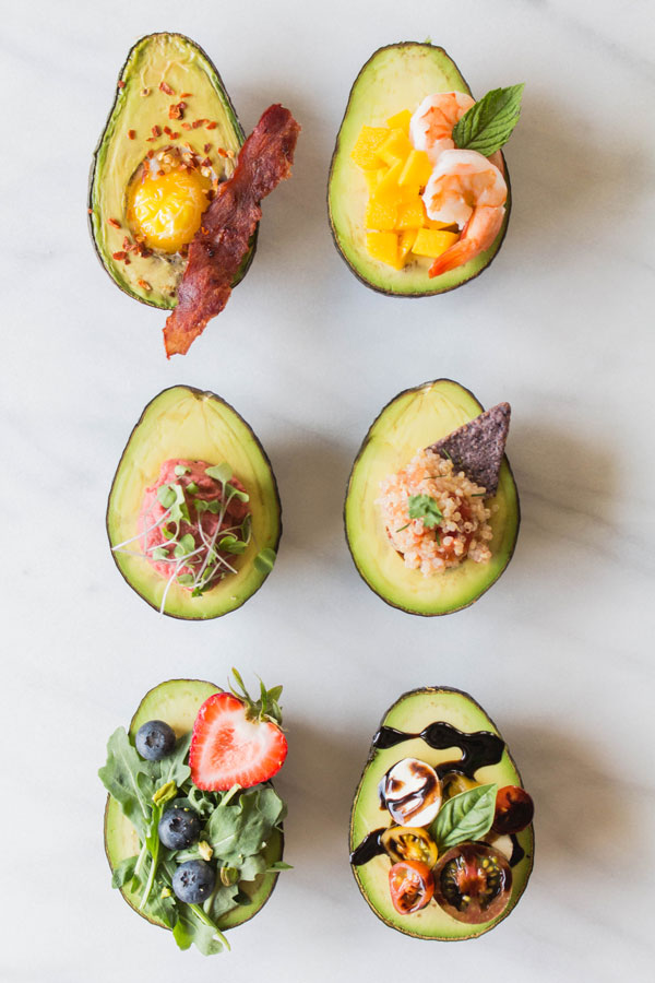 Stuffed Avocados 6 Different Ways