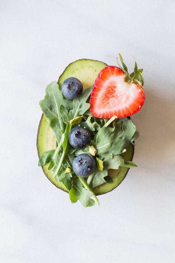 Arugula + Berry Salad Avocado