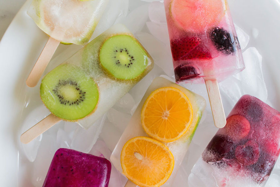 Assortment of Water Fruit Popsicles