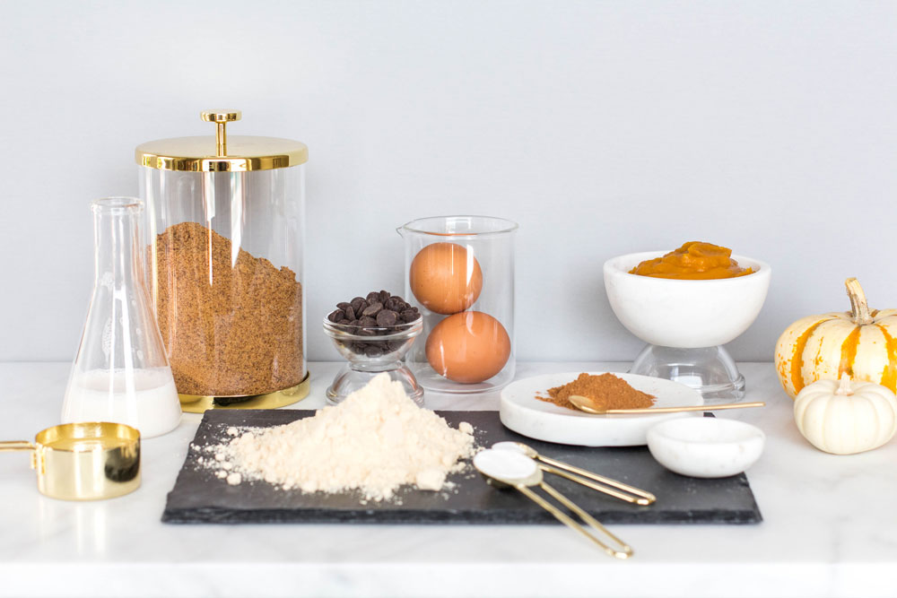 Ingredients for Gluten-Free Mini Pumpkin Donuts