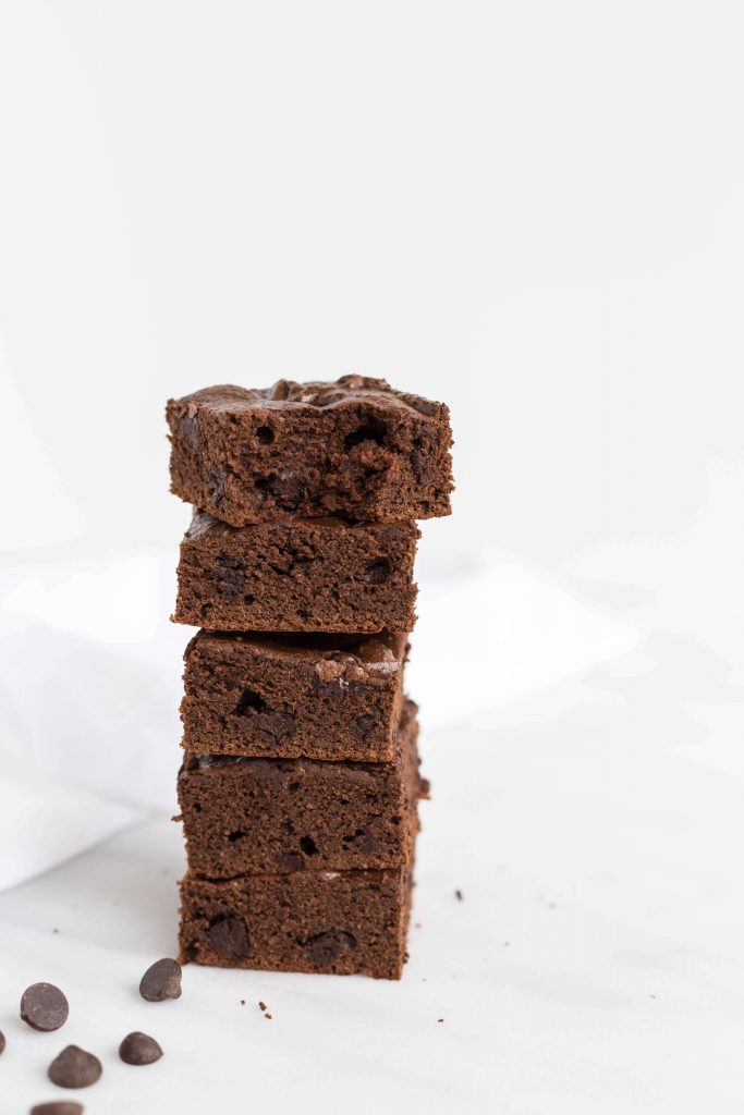 Stack of Chocolate Chip Brownies